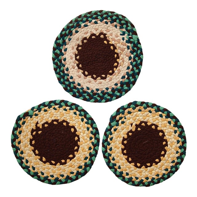 Antique American Braided Seat Covers - Set of 3 For Sale