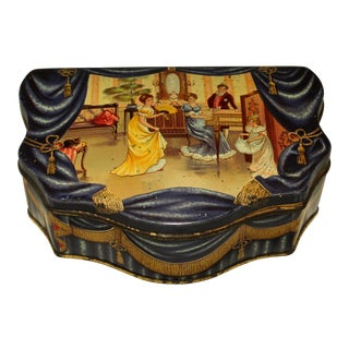 """Huntley & Palmers Biscuit Tin """"The Music Room"""" For Sale"""