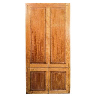 English Georgian Style Marquetry and Satinwood Panel For Sale