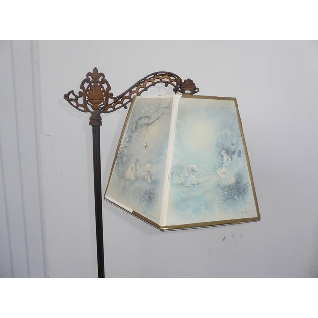 Antique Andres Orpinas Victorian French Country Metal Floor Lamp - Image 4 of 10