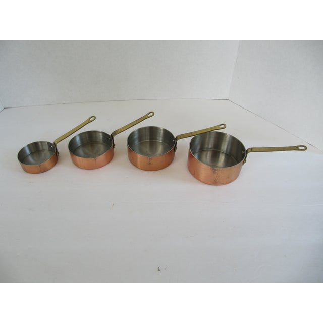 Copper & Brass Measuring Cups - Set of 4 For Sale - Image 4 of 8