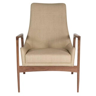 Customizable Warren Walnut Lounge Chair For Sale