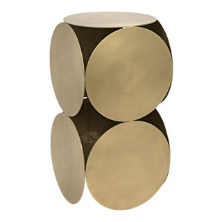 Lola Side Table in Antique Brass For Sale