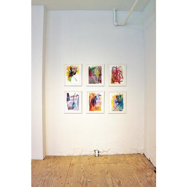 "Diana Delgado Diana Delgado ""Cluster Study (Pink Check)"" Painting For Sale - Image 4 of 5"