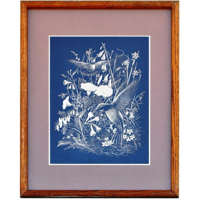 Paul M. Breeden Hummingbirds Drinking Nectar Gold Foil Etching For Sale In San Francisco - Image 6 of 6