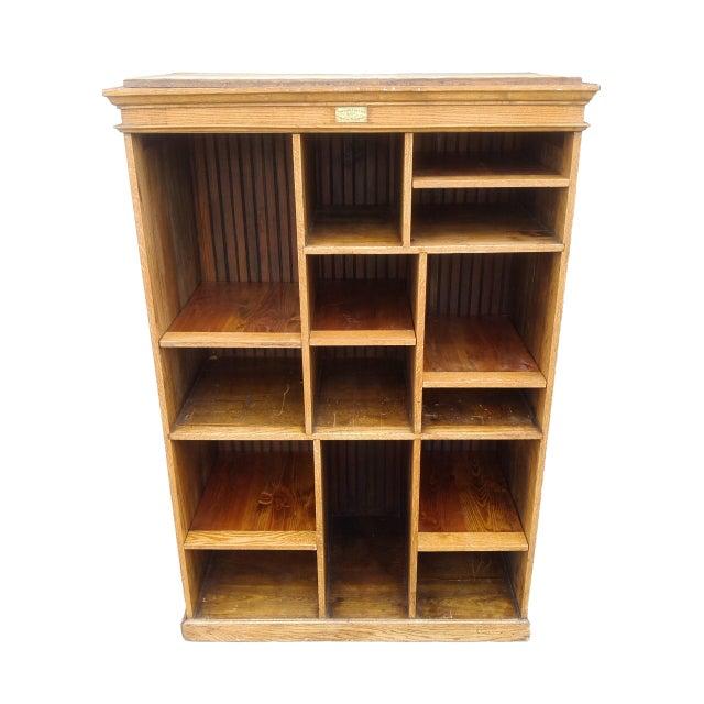 MCM Rustic Wood Book Shelf Storage Unit - Image 4 of 7