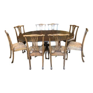 Turn of the Century Oak Dining Set - 9 Pieces For Sale