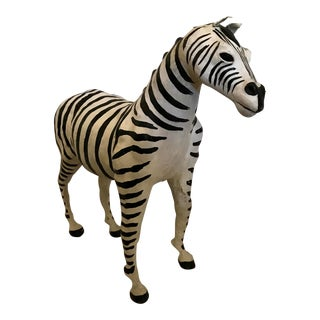 Large Leather Zebra For Sale