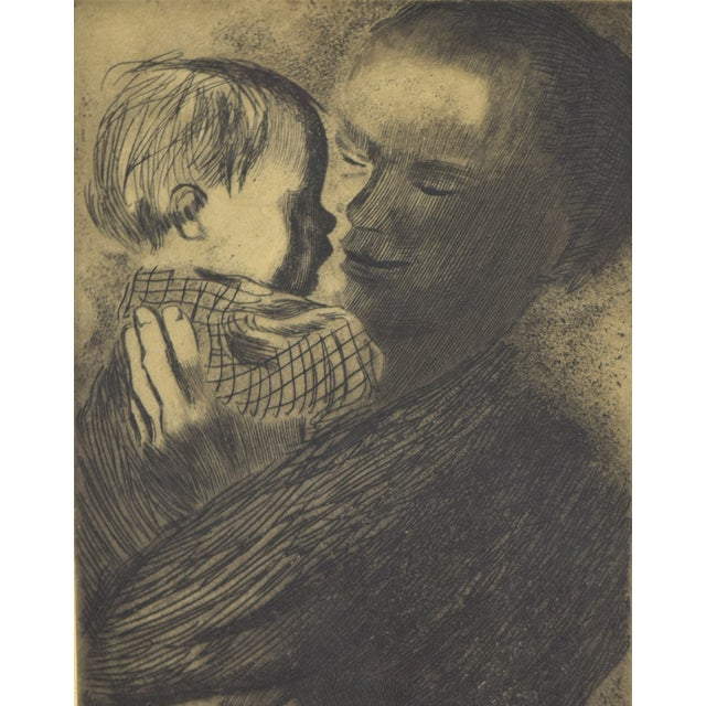 1960s Expressionist Kathe Kollwitz Etching of Mother and Child - Mutter Mit Kind For Sale - Image 4 of 8