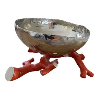Michael Aram Faux Red Coral Small Bowl For Sale