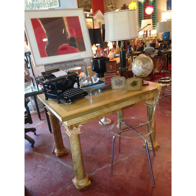 1980s Vintage John Saladino Neoclassical Library Table For Sale In Boston - Image 6 of 8