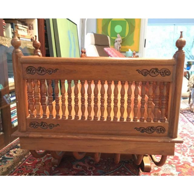 20th Century Asian Thai Howdah Hand Carved Teak Daybed For Sale In Tampa - Image 6 of 10