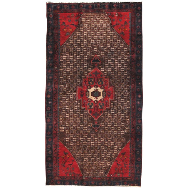 "Vintage Serab Wool Area Rug - 4'9"" X 9'3"" - Image 1 of 3"