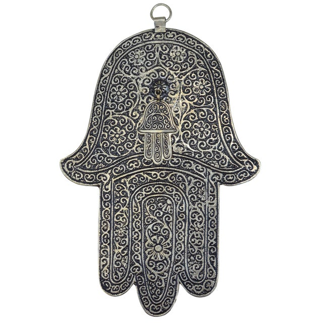 Tribal Moroccan Engraved Wall Plaque For Sale - Image 3 of 3