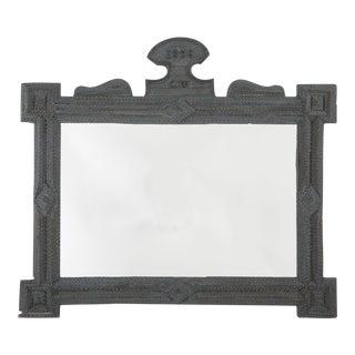 Tramp Art Mirror Frame For Sale