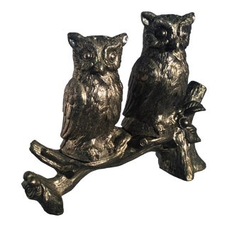 """""""Owls on Tree Branch"""" Vintage Salt & Pepper Shakers - Set of 3 For Sale"""