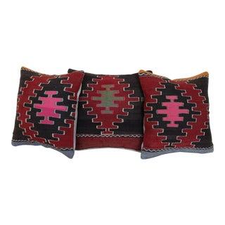 Kilim Rug Pillows - Set of 3 For Sale