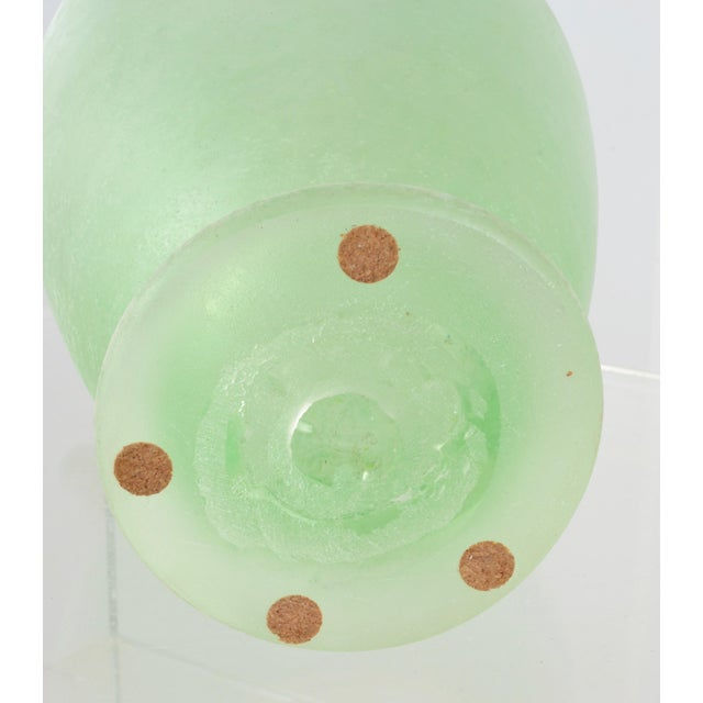 Green Large Murano Scavo Vase For Sale - Image 8 of 8