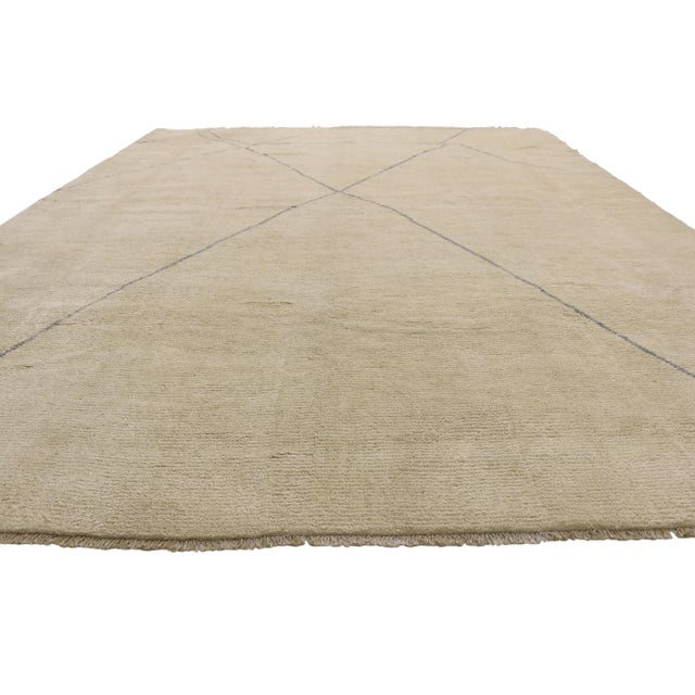 Contemporary Contemporary Moroccan Area Rug With Modern Style - 10'03 X 13'07 For Sale - Image 3 of 10