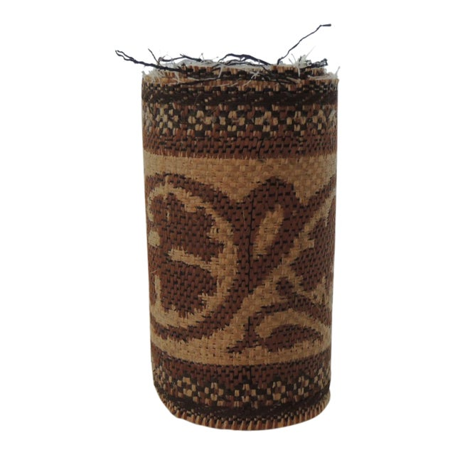 """Set of """"4"""" Jute Woven Arts and Crafts Style Decorative Trims For Sale"""