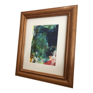 Framed Original Abstract Acrylic Painting For Sale