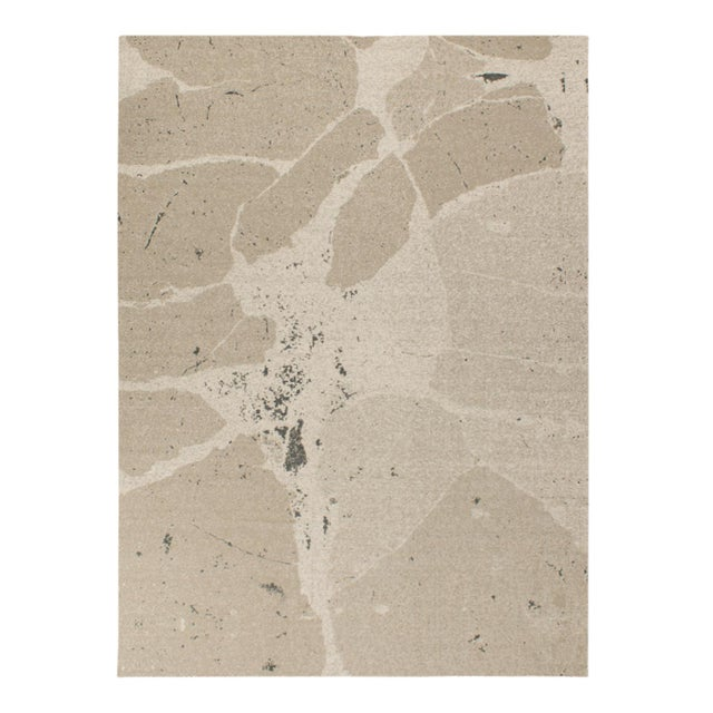Solo Rugs Grit and Ground Collection Contemporary Organic Cracks Flatweave Hand-Knotted Flatweave Area Rug, Beige , 8' X 10' For Sale - Image 4 of 4