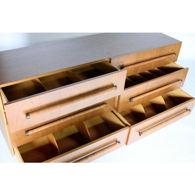 Brass t.h. Robsjohn Gibbings Six-Drawer Dresser for Widdicomb For Sale - Image 7 of 9