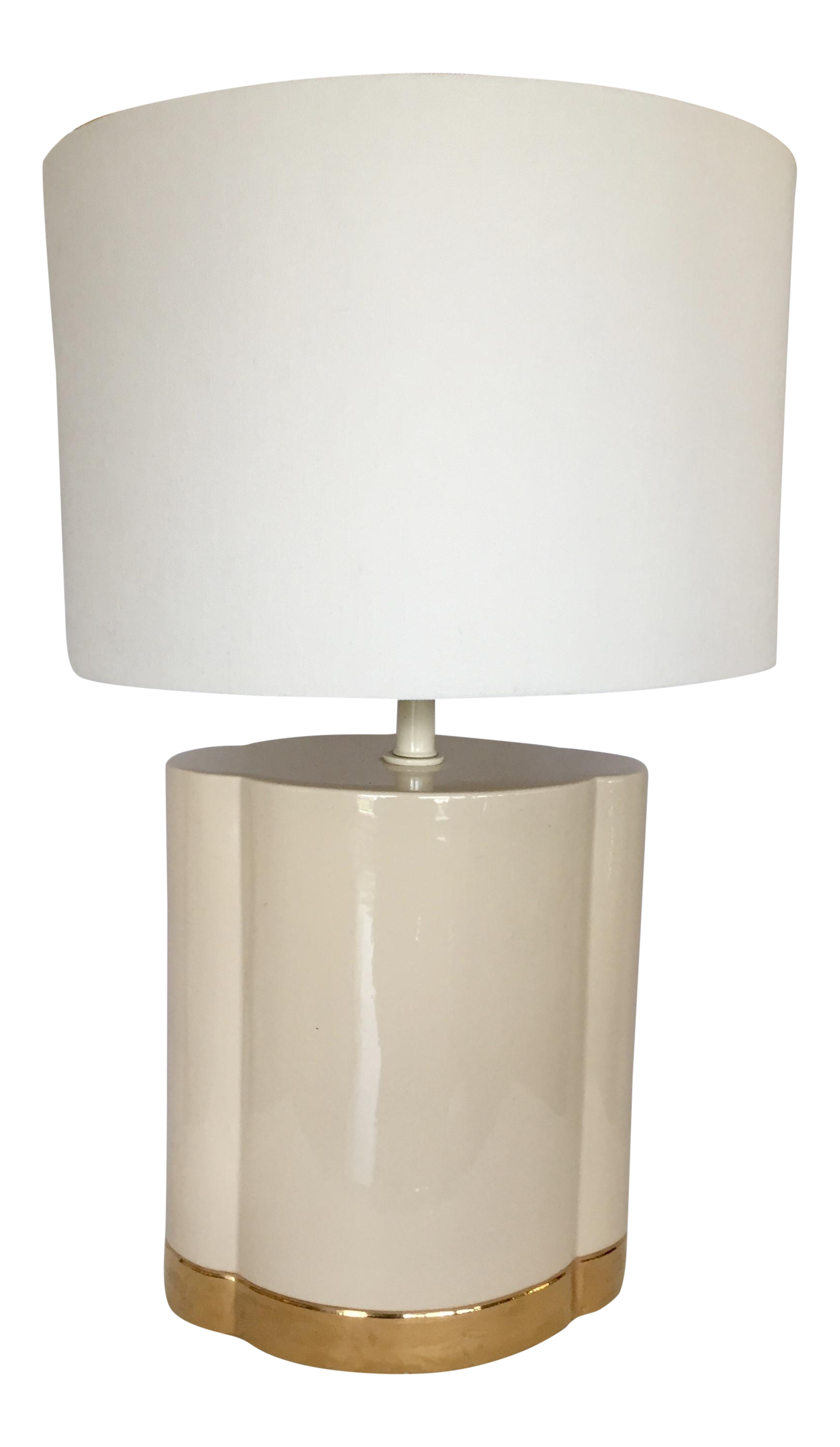 Gold And Beige Ceramic Table Lamp Chairish