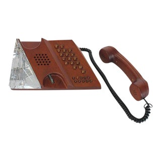 Teli Mid-Century Swedish Mahogany Phone