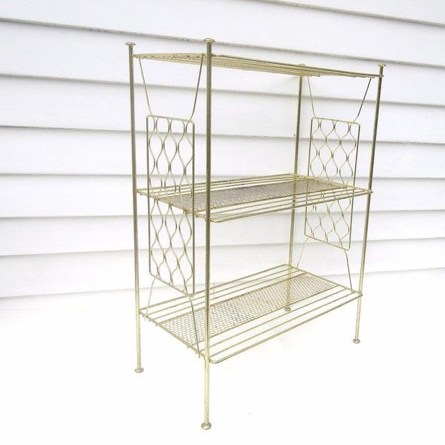 Vintage Metallic Brass Display Shelf - Image 3 of 8