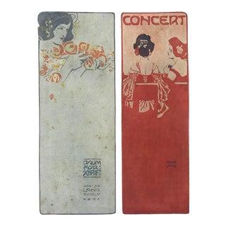 1906 Original German Art Nouveau Poster, Decorator Print, #18, Art Deco Fashion For Sale