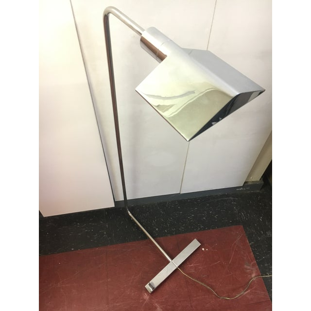 Silver 1960s Mid-Century Modern Koch & Lowy Chrome Floor Lamp For Sale - Image 8 of 9
