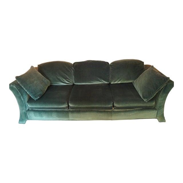 Broyhill Emerald Green Velvet Sofa - Image 1 of 7