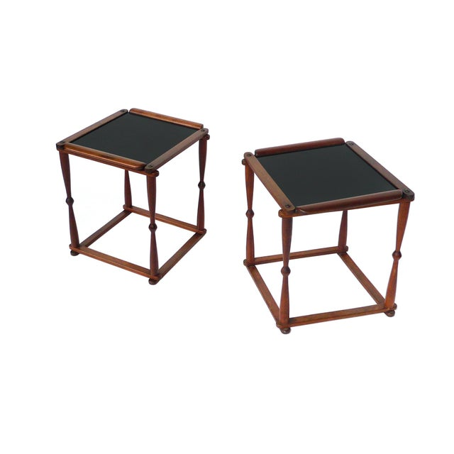 1940s Campaign-Style Collapsible Walnut End Tables - a Pair For Sale - Image 13 of 13