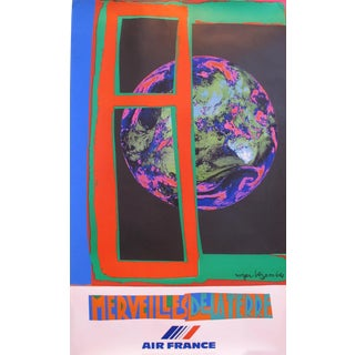 1980 Original Air France Travel Poster - Merveilles De La Terre For Sale