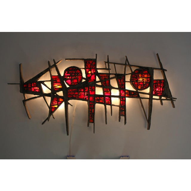 Pia Manu Pia Manu Giant Wall Light Sculpture - 1970s For Sale - Image 4 of 9