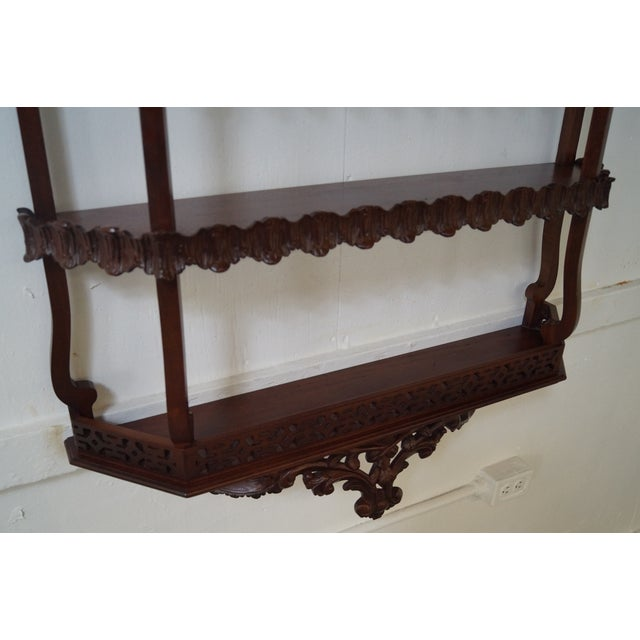 Quality Solid Mahogany French Style Hanging Shelf - Image 8 of 10