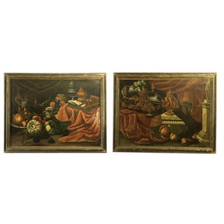 Late 17th Century Venetian Still Life Paintings - a Pair For Sale