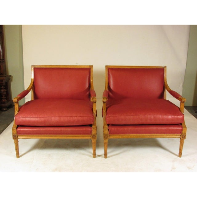 Louis XVI Style Marquis Chairs - a Pair For Sale - Image 10 of 10