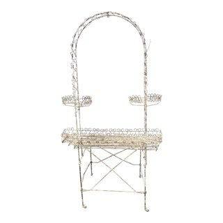 Antique Wire Plant Stand For Sale