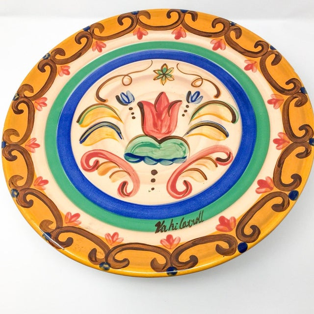 """Vicki Carroll """"Sil Vous Plait"""" Footed Cake Plate For Sale - Image 9 of 13"""