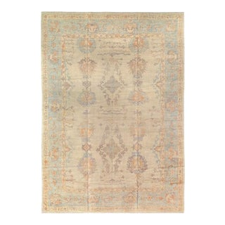 Pasargad Ivory Fine Hand Knotted Turkish Oushak Rug- 11'4'' X 16' For Sale