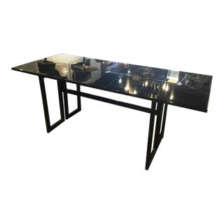 Early 20th Century Black Lacquered Console Table For Sale