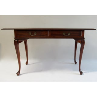 Vintage Chippendale-Style, Queen-Anne Legged 2-Drawer Writing Desk Preview