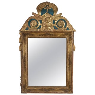19th Century French Regence Style Gilded Mirror For Sale