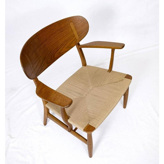 Tan Hans Wegner CH-22 Lounge Chair For Sale - Image 8 of 10