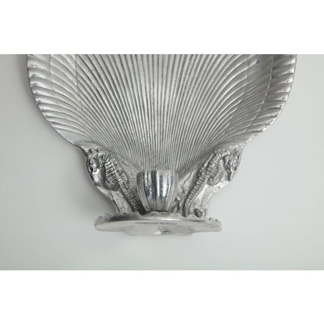 1990s Arthur Court Shell Candle Sconces - a Pair For Sale - Image 5 of 8