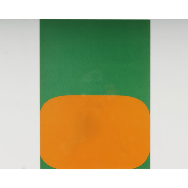 A 1964 lithograph by American artist Ellsworth Kelly (1923-2015). Printed in the French art publication Derriere le...