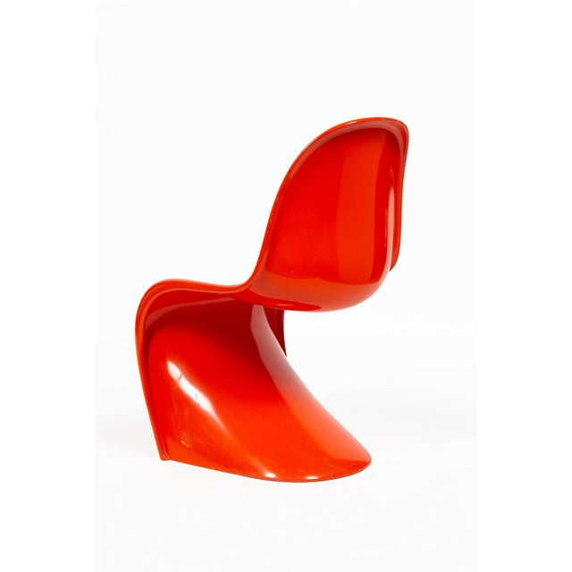 Verner Panton Orange Verner Panton S-Chair For Sale - Image 4 of 12