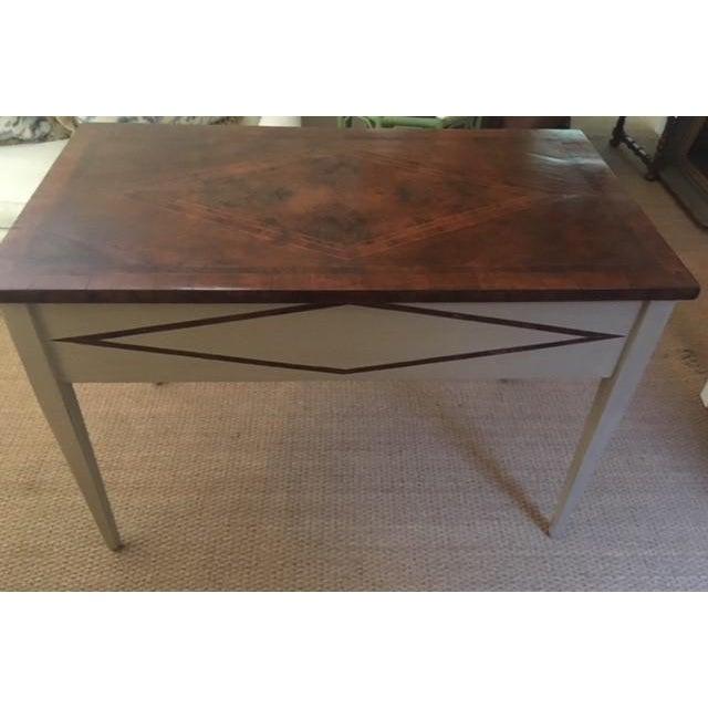 Bennett Co. Bennett Co. Custom Painted Desk For Sale - Image 4 of 8